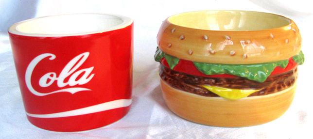 コーラとハンバーガー
