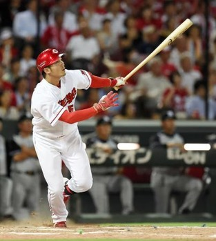 鈴木誠也(22) .326 9本 39打点 5盗塁 OPS.965