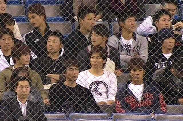 私服WBC代表観客観戦視察