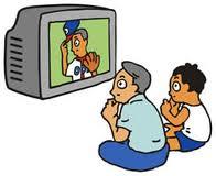 テレビ野球観戦