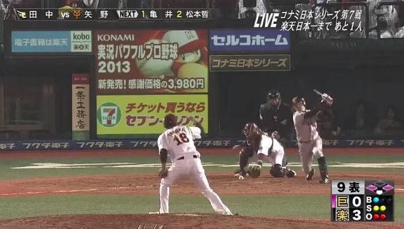 スポーツ番組「田中将大の名シーン!」ワイ「あっ…(矢野…)」