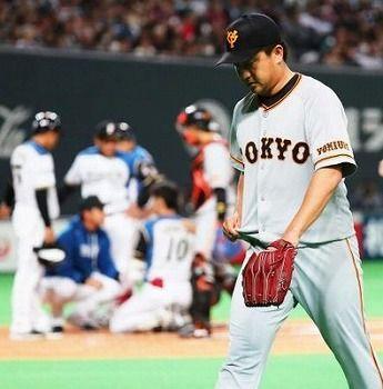 巨人沢村、1球で危険球退場「清水君に謝りたい」