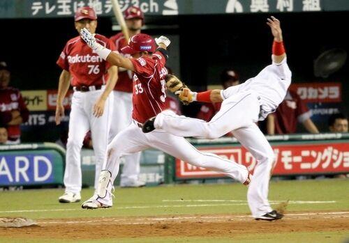 一塁手と走者