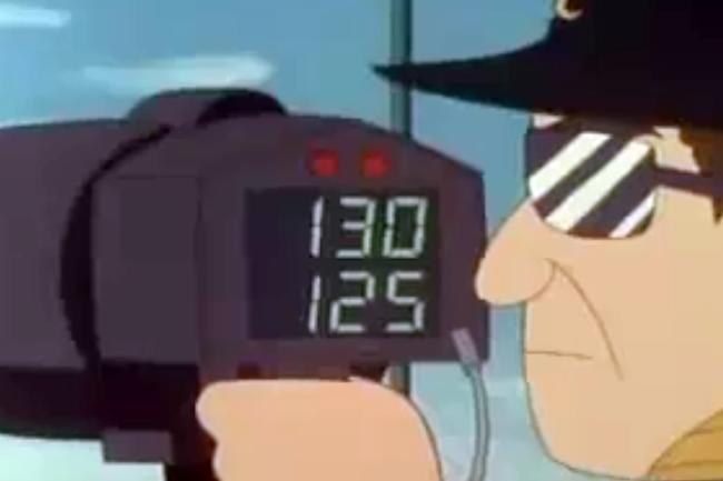 絵球速スピードガン初速終速