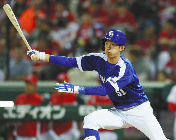 中日・京田陽太 打率.269(145-39) 1HR 9打点 4盗塁 OPS.643