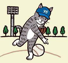 投手猫スワローズ神宮絵