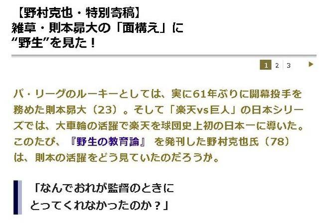 【野村克也・特別寄稿