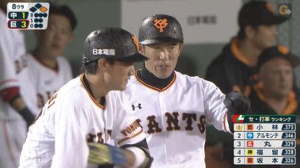 小林誠司 打率.206←こいつが一時でも打率ランキングの首位にいたという現実