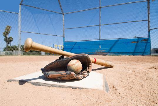 baseball-equipment-on-home-plate