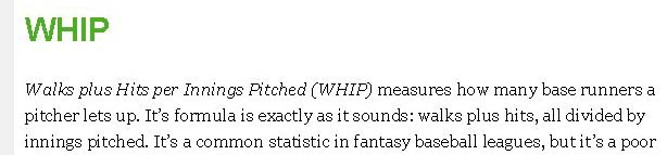 WHIP  FanGraphs