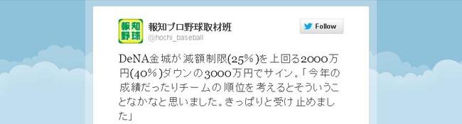 金城2000万円減