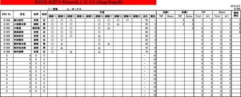 ROCK KIDS Round1 集計表-12