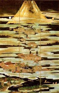 ②16c_狩野元信_絹本着色富士曼荼羅図