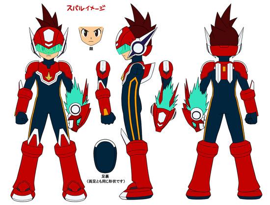 【軽】SSロックマン三面図(スバルカラー)