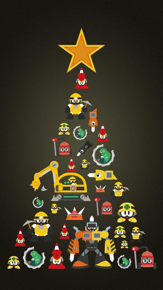 クリスマス_ツリー_タテ_パイル