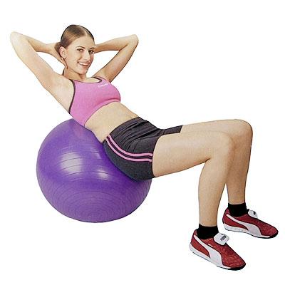 バランスボール腹斜筋トレーニング