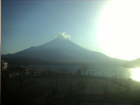 富士山の発光現象