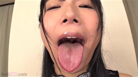 あずみひなの舌