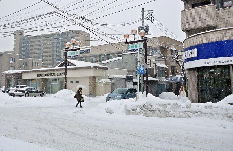 20110112積雪状況@盛岡市夕顔瀬 ...