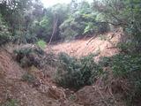 雑木山の崩壊箇所