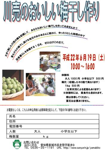 梅干作りポスター