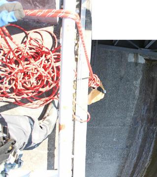 ロープの回収中はセルフビレイを取ること