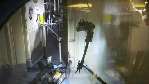 福島原発を調査する米アイロボット社製のロボット