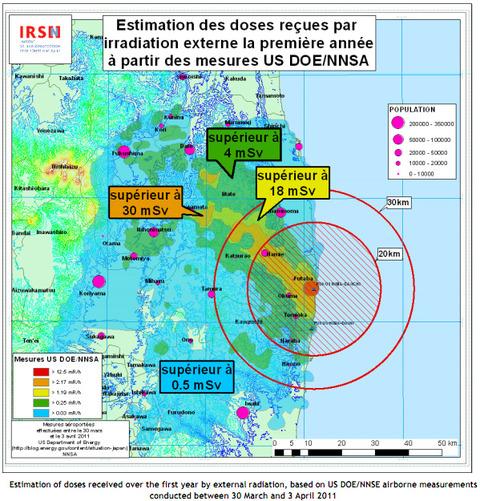 IRSNの放射能汚染予測シュミレーション