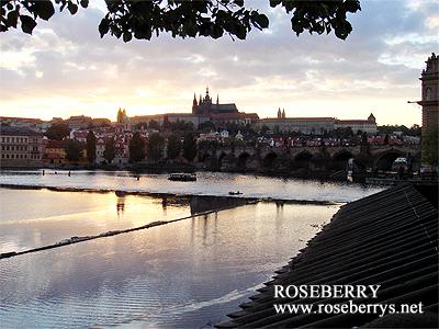 プラハ城の夕焼け♪