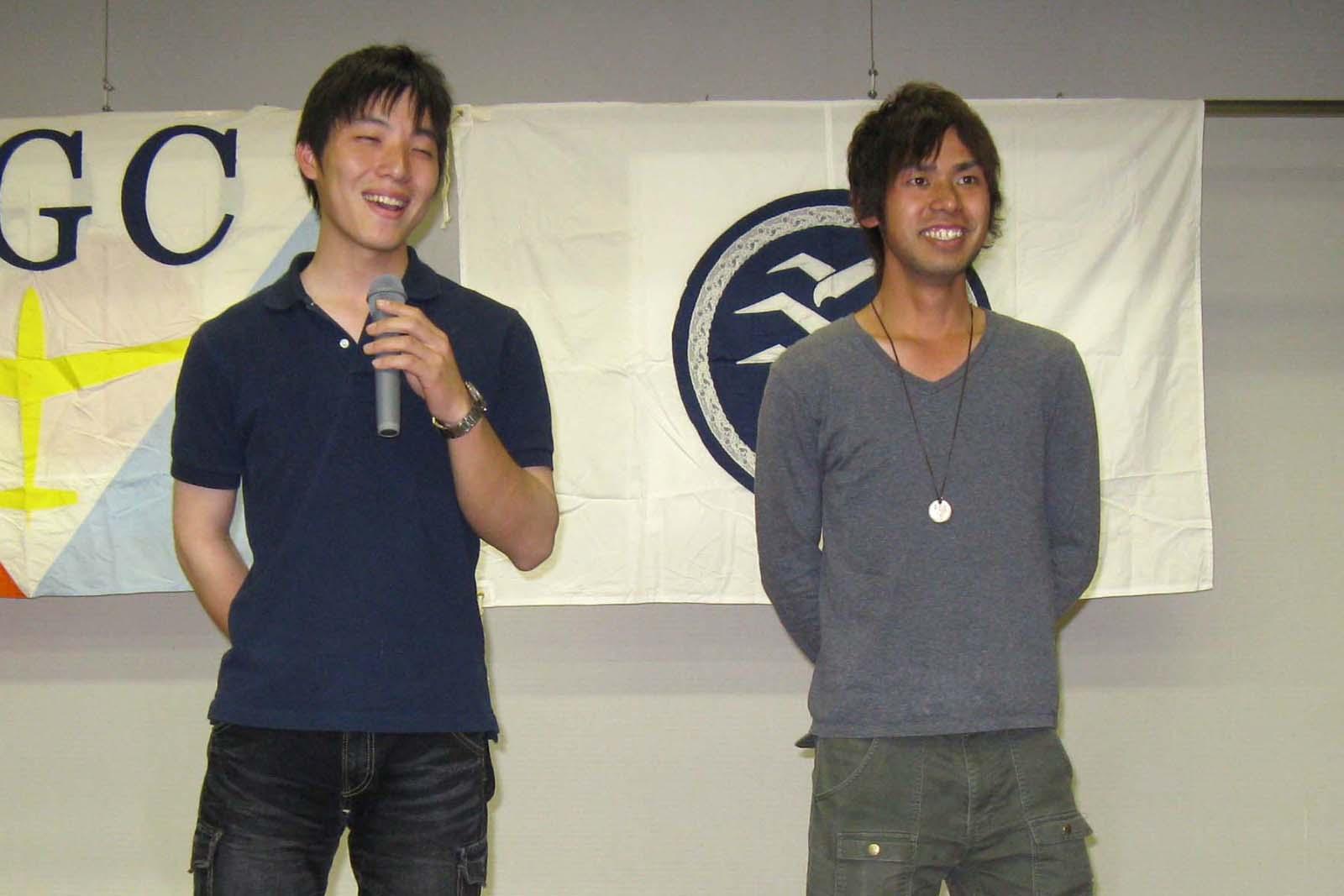 080502 チーム 巧  田中真太郎さん、高見彰太さん 関西大学、関西外国語大学生 合同チーム