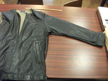 レザージャケット 『身幅~AH~袖幅つめ、上で着丈詰め』