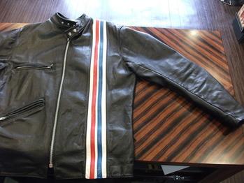 レザージャケット『身幅~AH~袖巾つめ』