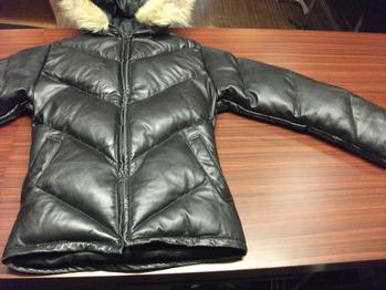レザーダウンジャケット 『身幅~AH~袖幅つめ、肩幅詰め』