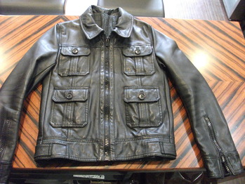 レザージャケット 『身幅~AH~袖幅つめ、肩幅つめ、上で着丈つめ』