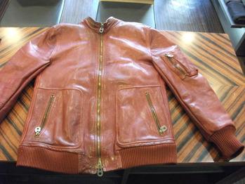 レザージャケット 『身幅~AH~袖幅つめ、肩幅つめ』