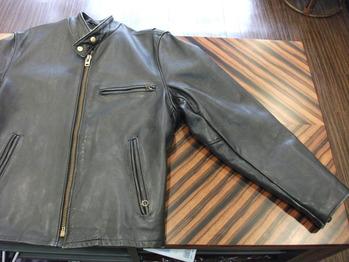 シングルライダースジャケット『身幅~AH~袖巾つめ&マチ取り』