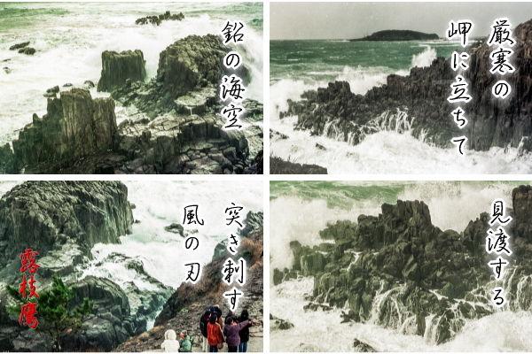 厳寒の岬に立ちて見渡する鉛の海空突き刺す風の刃
