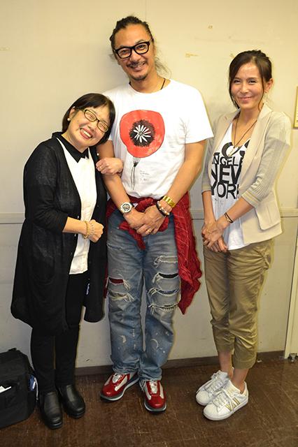 杉本彩さんと、ご主人の松山禎秀さん、そして、サノスミコ
