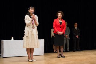 銅賞受賞者の山本寿実さん