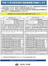 国税庁から源泉徴収票の新様式の記載要領が公開