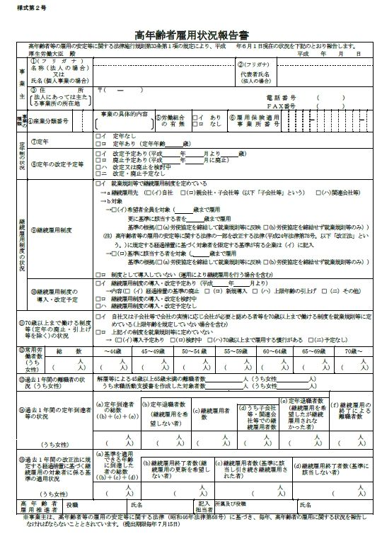年 状況 年齢 報告 和 2 雇用 書 高 令