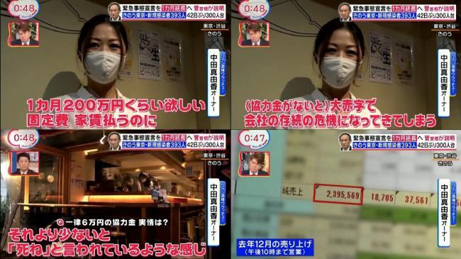 【画像】飲食店さん『売上200万だから毎月200万円以上の協力金よこせ!!』