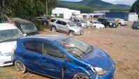 流された車たち、施設周辺