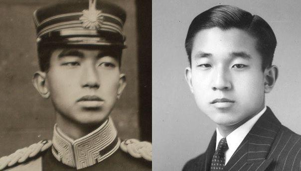 皇室の写真   昭和天皇と明仁親王