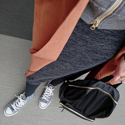 テロンチ ジップアップパーカー コンバース 30代ママファッション
