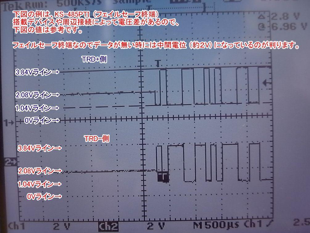 RS485出力波形