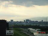 2010年9月5日夕、煙霧が明石海峡から神戸へ