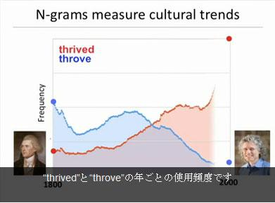 「thrived」と「throve」の言葉のゆらぎ