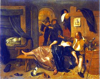 ヤン・ステーン 16《酔っ払った男と女》