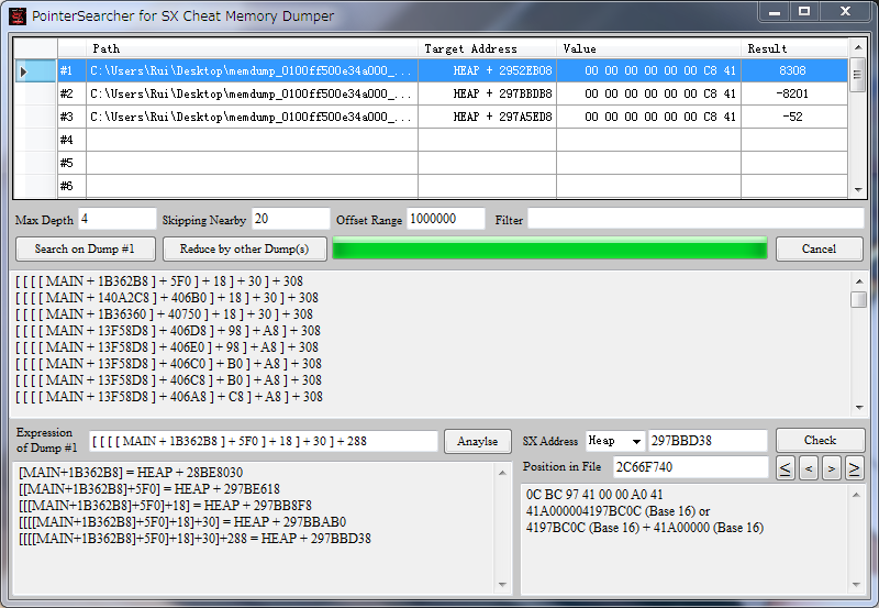 Pointer Searcher for SX OS